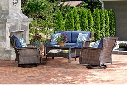Hanover STRATH4PCSW-LS-NVY Strathmere Lounge Set