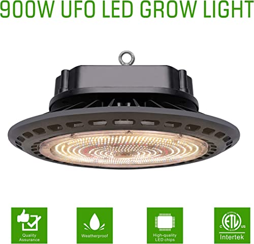 Oppolite UFO LED 300W Full Spectrum Grow Light 32 x32 x63 Indoor Grow Tent 4 Inline Fan Filter Combo Ventilation System Hydroponic Growing Accessories UFO LED900W Light Only