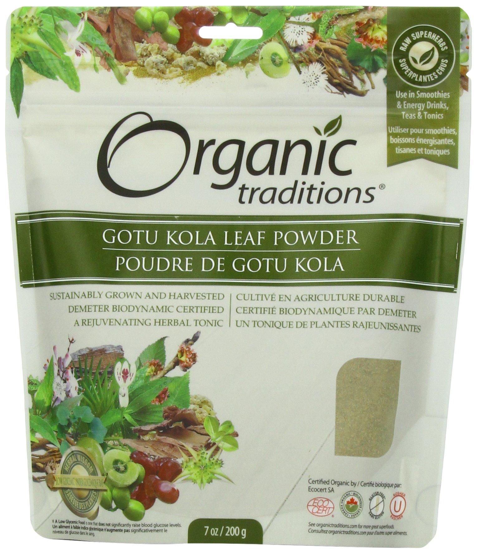 Organic Traditions Organic Powder, Gotu Kola, 7 Ounce (Pack of 12)