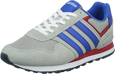 adidas 10K, Zapatillas de Deporte Exterior para Hombre, Gris/Azul/Rojo (Onicla/Azul/Rojpot), 41 1/3 EU: Amazon.es: Zapatos y complementos