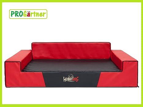 Cama para perros Glamour L 84 x 64 cm Rojo con Negro (5) de