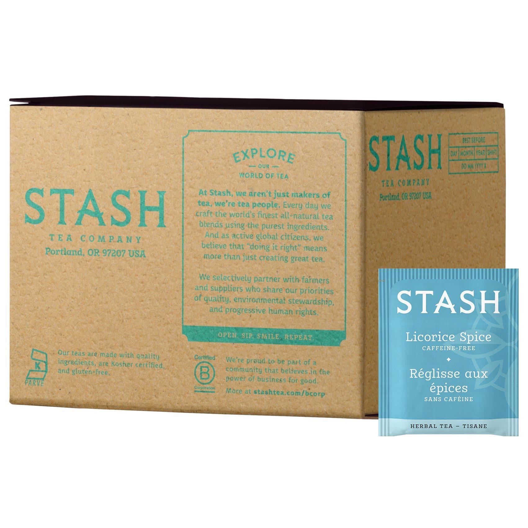 Stash Tea Licorice Spice Herbal Tea 100 Count Box of Tea Bags in Foil by Stash Tea