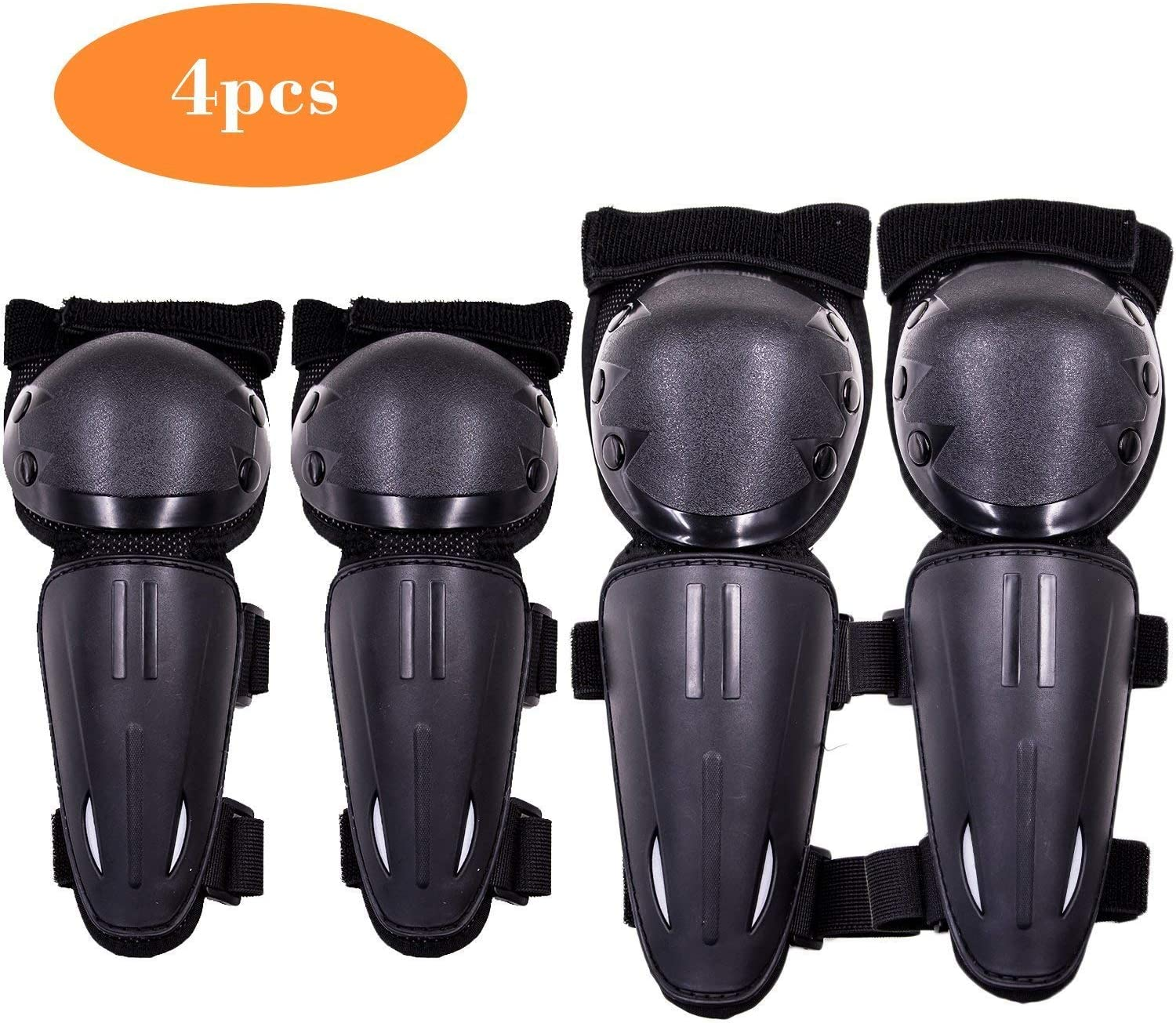 Webetop Kids Dirt Bike Knee And Elbow Pads Shin Guards Youths Protective Gear Set Armor Vest Protector for Dirt Bike Mountain Bike Off-Road Racing Adult L