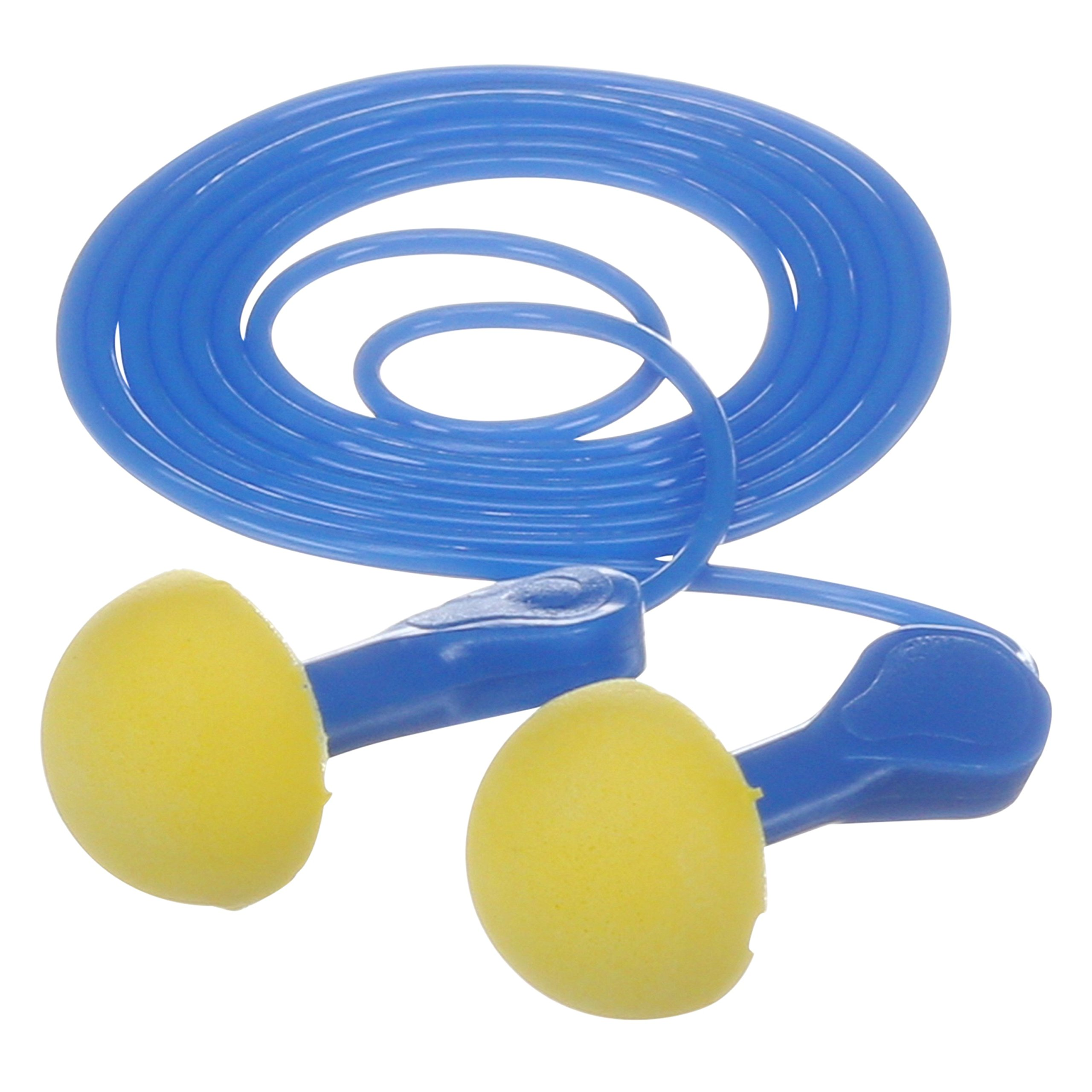 3M E-A-R Express Pod Plugs Corded Earplugs, Hearing Conservation Blue Grips 311-1114 in Pillow Pack (Pack of 100) by 3M Personal Protective Equipment (Image #2)