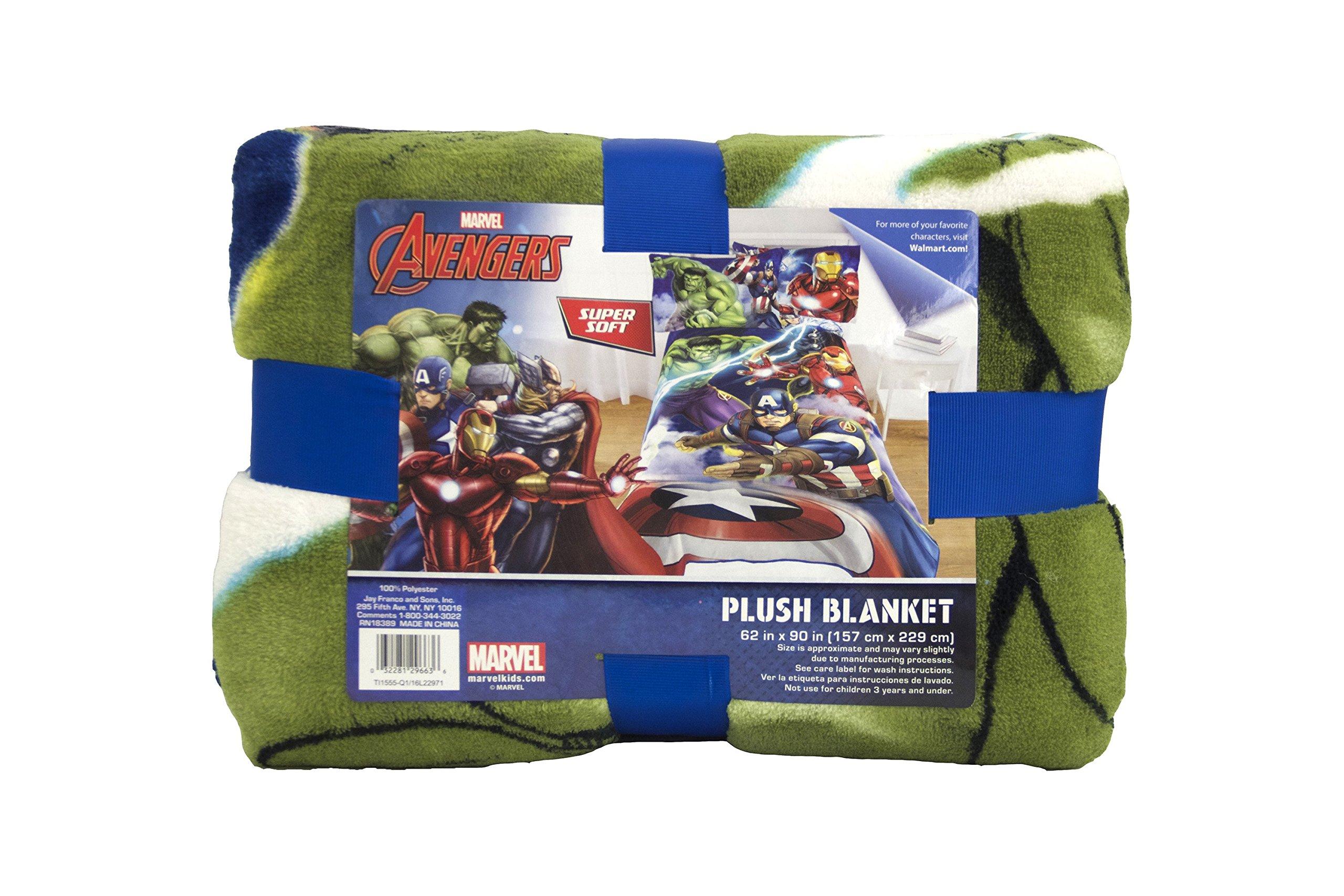 Marvel Avengers Blue Circle Fleece Plush Blanket, 62 x 90/Twin by Jay Franco (Image #4)
