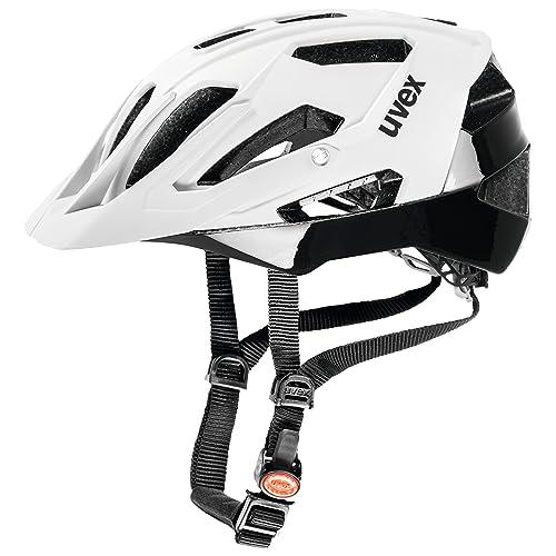 Uvex Quatro Casco de ciclismo, Unisex adulto, Blanco / Negro, 56-61