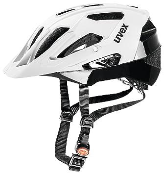Uvex Quatro Casco de ciclismo, Unisex adulto, Blanco / Negro, 52-57