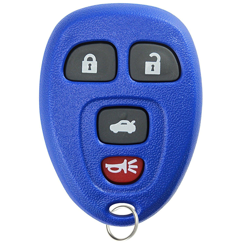 KeylessOption Keyless Entry Remote Control Car Key Fob Replacement 15912859 Blue