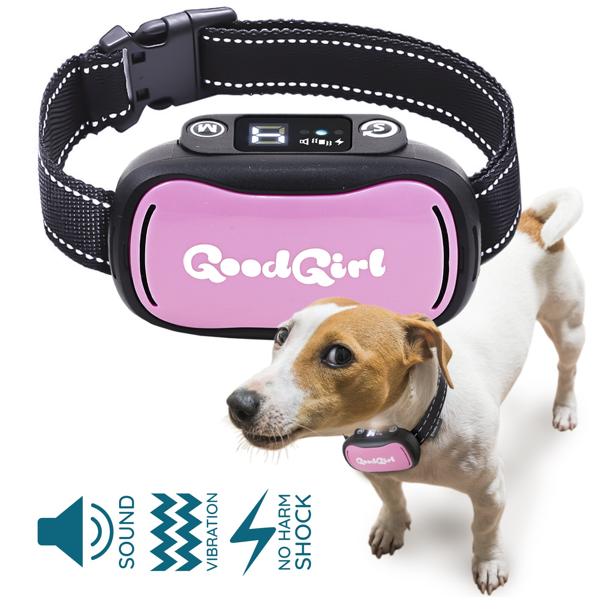 GoodBoy Vibrating Shock Anti-Bark Training Collar With Rechargeable Battery – Small, Safe, Waterproof Design Controls Excessive Barking Humanely – Great For Small And Large Breeds (9+ lbs)