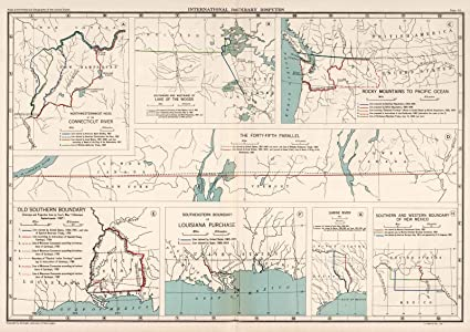 Amazon.com: Historical Atlas Map, Plate 93. International Boundary ...