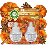 Air Wick Plug in Scented Oil 2 Refills, Pumpkin Spice, Fall scent, Fall spray, (2x0.67oz), Essential Oils, Air Freshener, Packaging May Vary