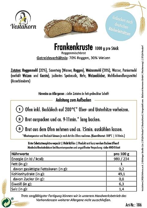 Pan de centeno autentico alemán