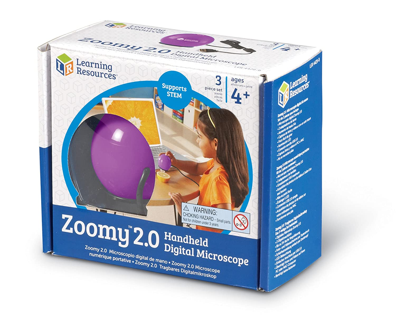Amazon.com: Learning Resources Zoomy 2.0 Handheld Digital Microscope ...