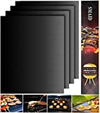 Smaid - Grill Mat Set of 4 - 100% Non-stick BBQ Grill Mats - FDA-Approved, PFOA Free, Reusable and Easy to Clean - Works on Gas , Charcoal , Electric Grill and More - 15.75 x 13 Inch