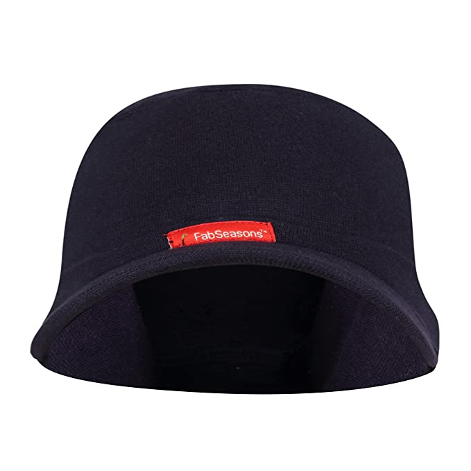 21bdf45d Buy FabSeasons Cotton Skull Cap with Peak, Ideal for All Summer & Winters.  Combo Pack of 2 (Gray, Blue) Online at Low Prices in India - Amazon.in