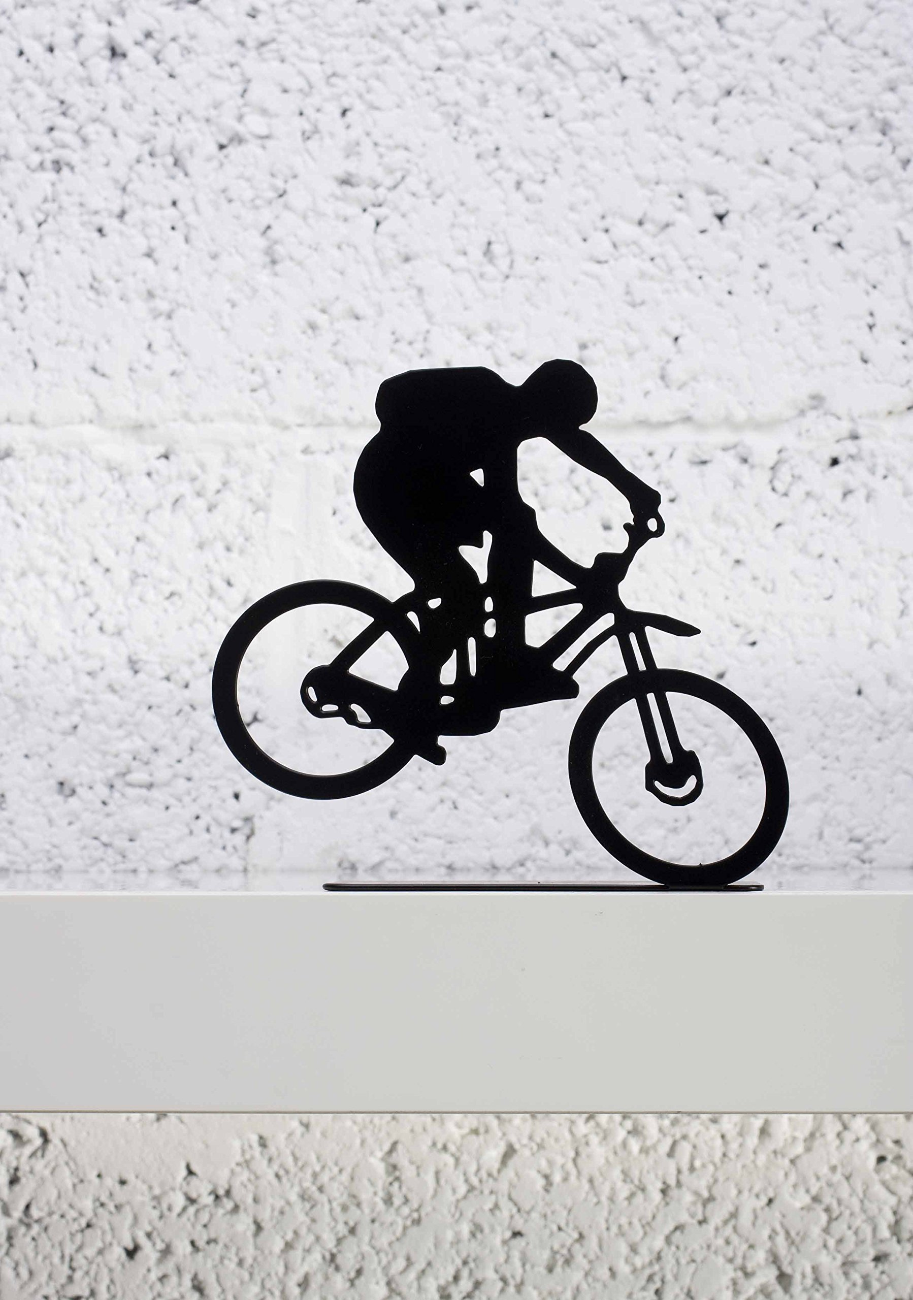 ARTORI Design Extreme Bike Rider - black metal figurine for shelf decoration by ARTORI Design