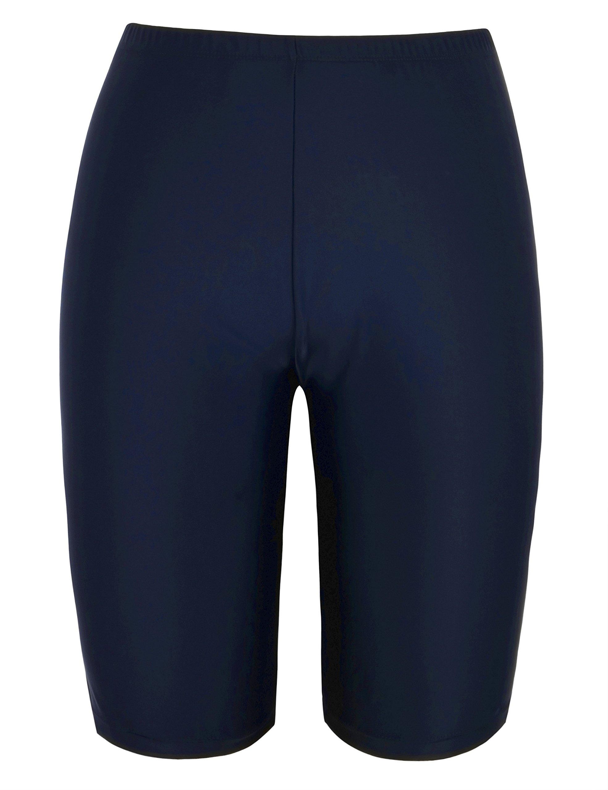 Firpearl Women's UPF50+ Sport Board Shorts Swimsuit Bottom Capris US10 Navy