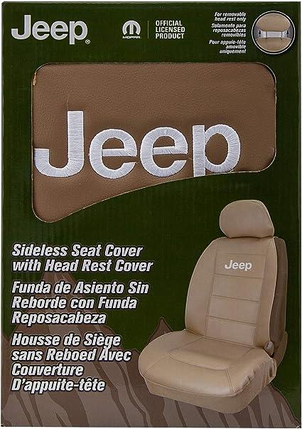 Jeep Elite Tan Plasticolor 008581R06 Sideless Seat Cover