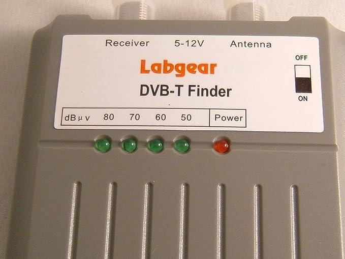Labgear. Antena sintonizador TDT Digital TV, Negro