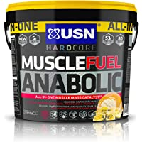 USN Muscle Fuel Anabolic Muscle Gain Shake Powder, Banana, 4 kg
