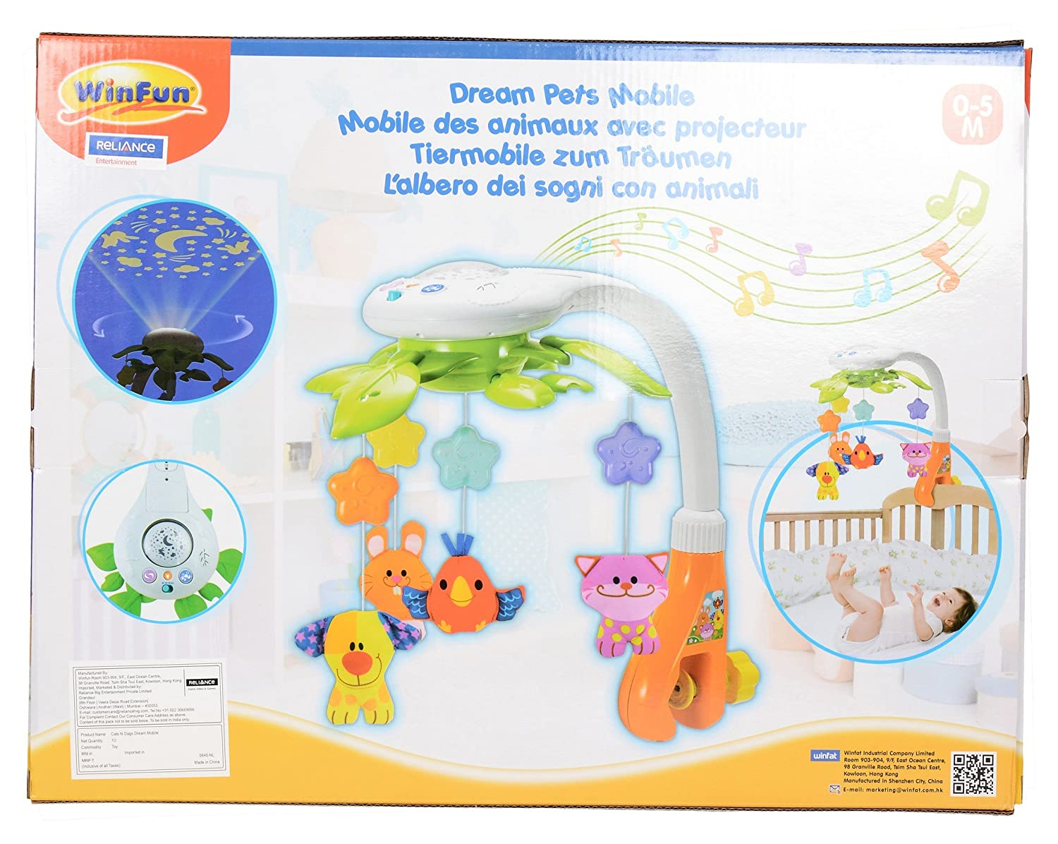 Buy Winfun Cats And Dogs Dream Mobile Multi Color Online At Low