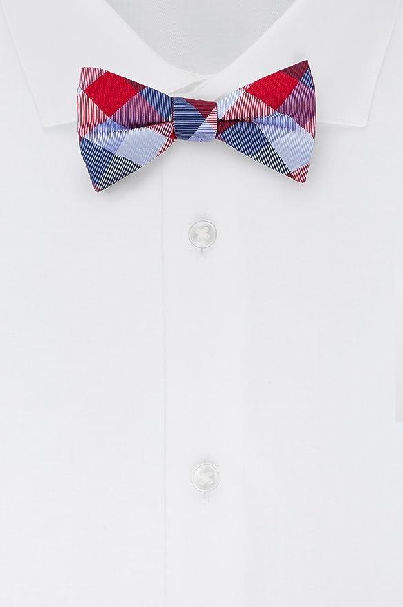 88b7b4a38b1b Tommy Hilfiger Men's Buffalo Tartan Self Tie Bow Tie, Black, One Size at  Amazon Men's Clothing store: