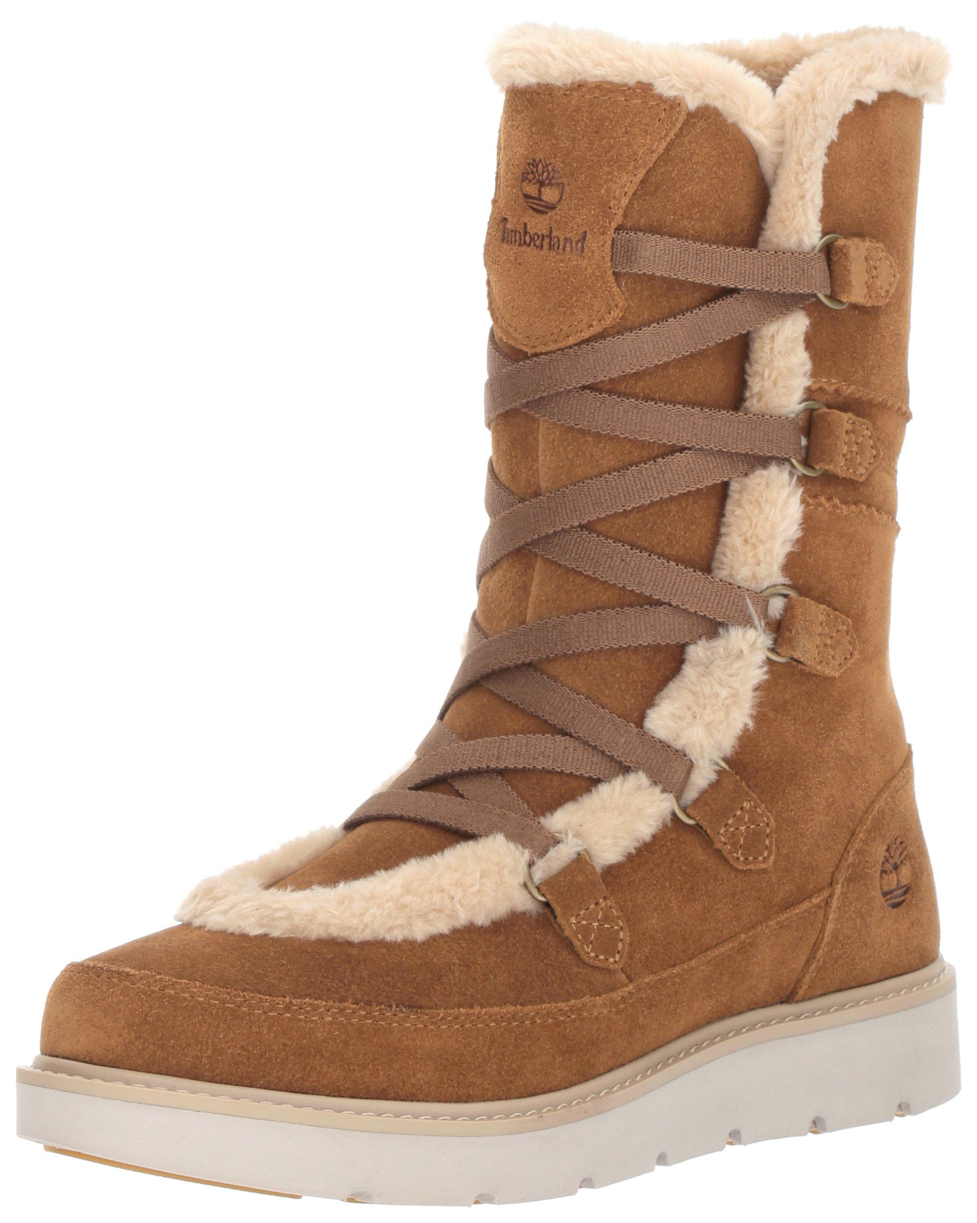 Timberland Women's Kenniston Muk Tall Winter Boot, Medium Brown, 8 C US