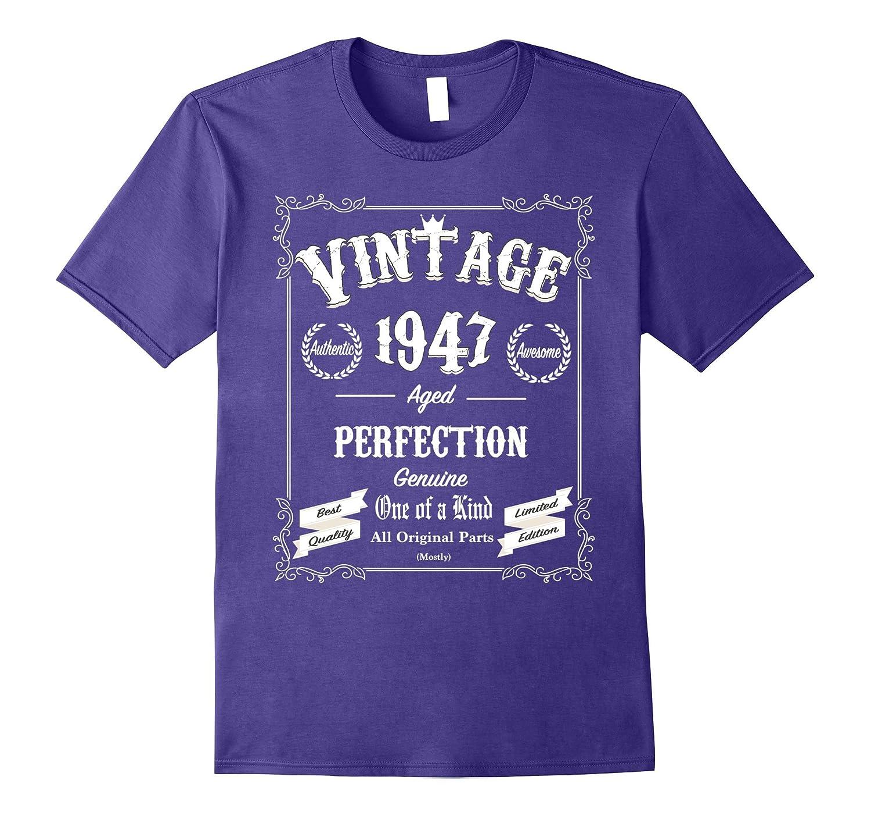 70th Birthday Gifts Vintage TShirt 1947 All Original Parts Gm Ganamatee