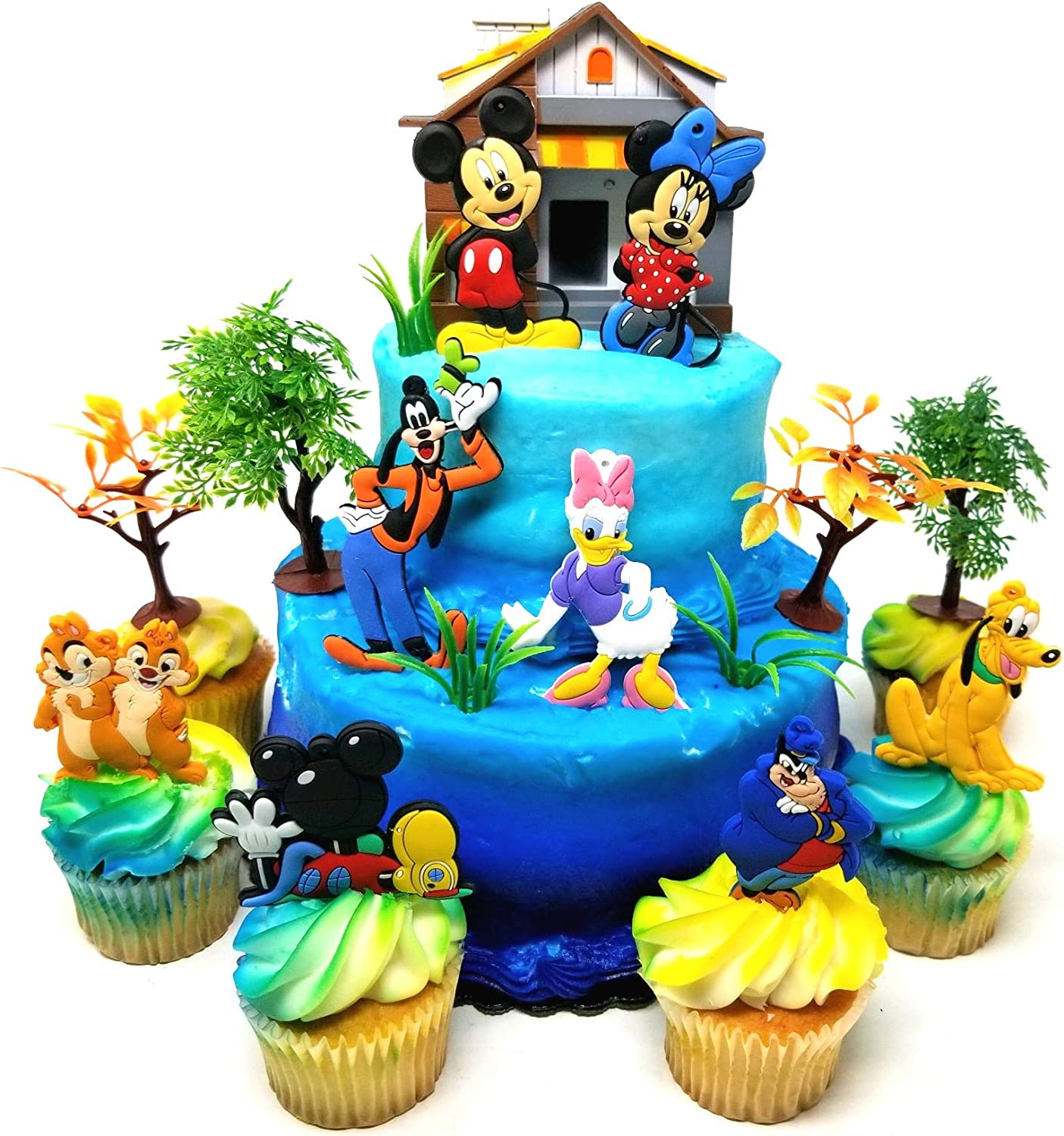 Superb Amazon Com Cake Toppers Mickey Mouse Clubhouse And Friends Funny Birthday Cards Online Fluifree Goldxyz