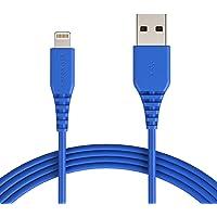 AmazonBasics – Cable de USB A a Lightning, con certificación MFi de Apple - Azul, 0,1 m