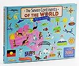 世界7大洲 大开本纸板翻翻书 英文原版 The Seven Continents Of The World 儿童学习世界地图 地理绘本 科普知识 儿童地理知识启蒙绘本 探索大自然