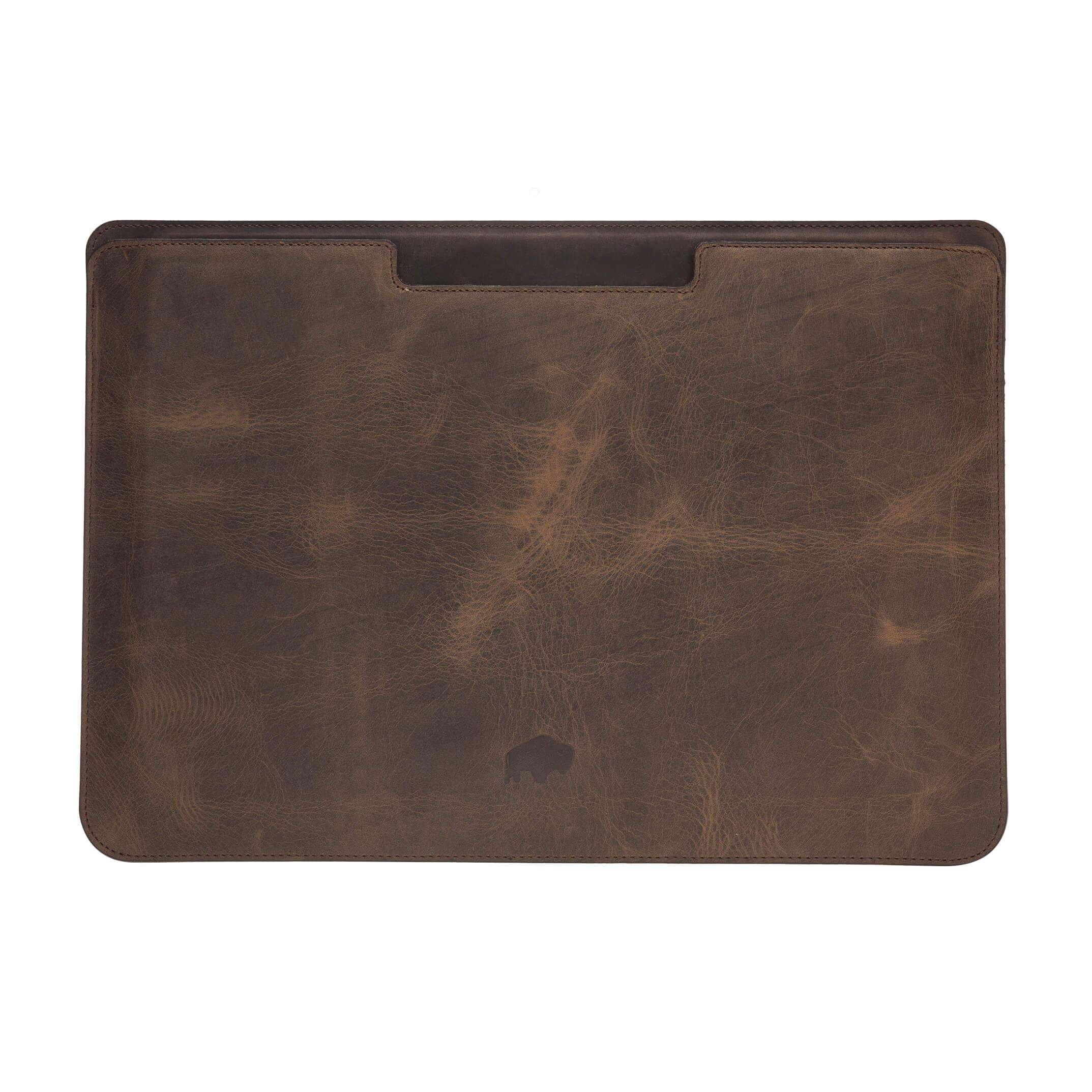 Burkley Case Compatible with MacBook Pro 15'' Burkley Leather Sleeve, Handcrafted and Full Grain Leather for MacBook Pro 15'' (Distressed Antique Coffee)