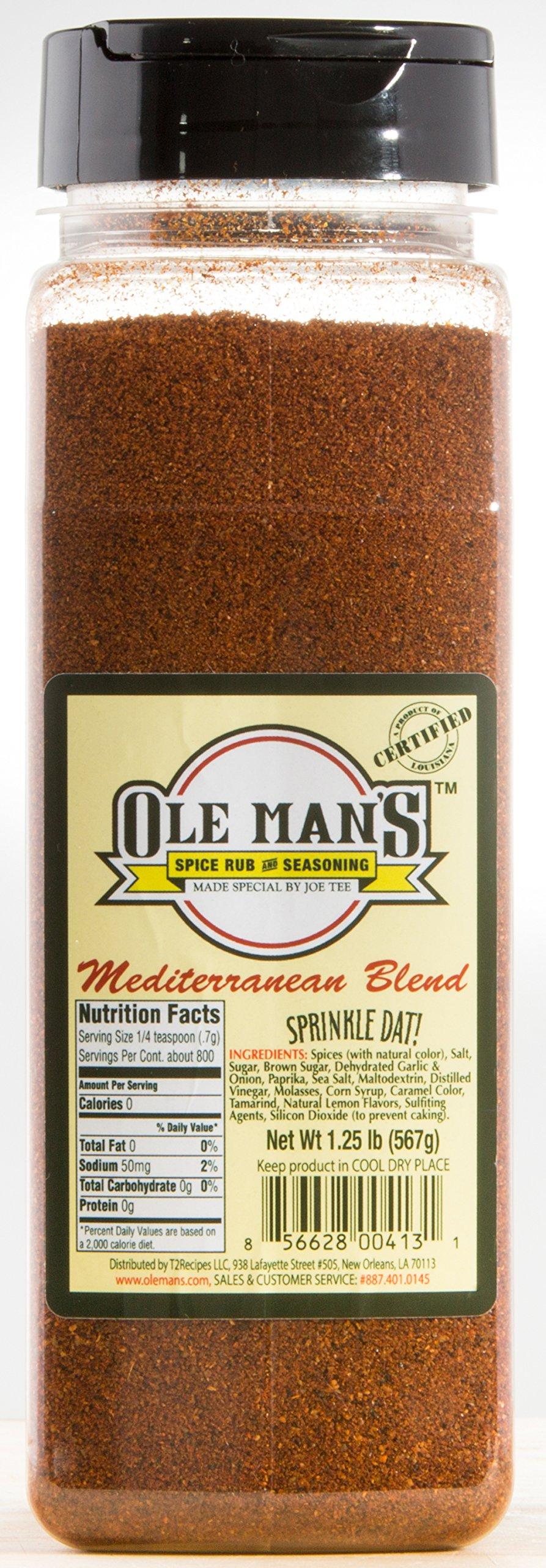 Award Winning! Mediterranean Blend-Ole Man's Spice Rub & Seasoning! Buy 2 Get 1 Free!