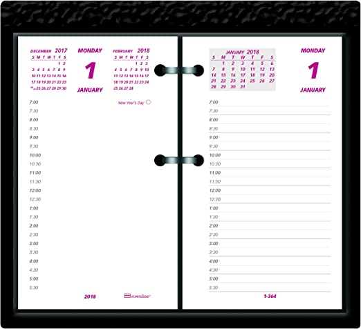 Brownline 2018 escritorio calendario