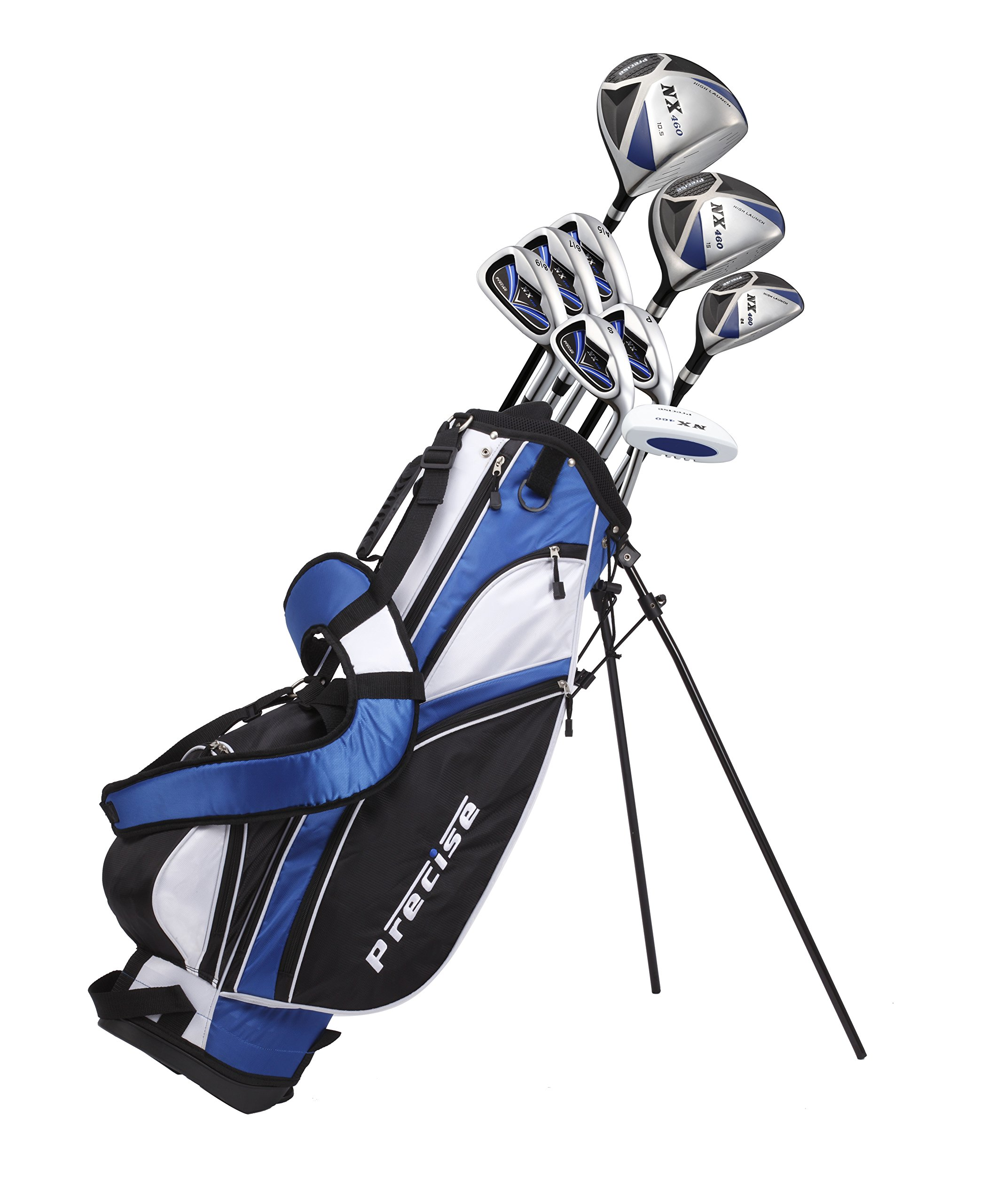 Men's Right Handed +1'' inch Tall Complete Golf Club Set, Custom Made for Golfers 6'0'' - 6'6'' Height