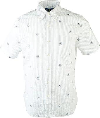 ralph lauren seersucker shirt white