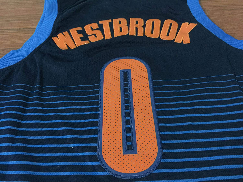 Hanbao Uomo Donna NBA Thunder 0# Westbrook Maglia da Basket