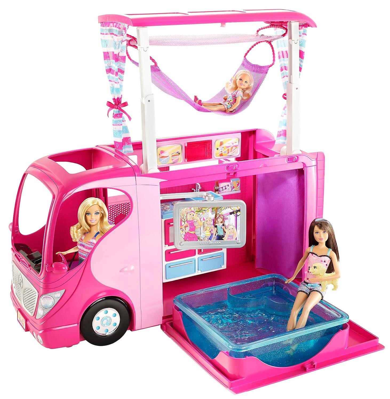 mattel v6981 - barbie, camper incl. cucina, bagno, vasca ... - Giochi Di Cucina Di Barbie