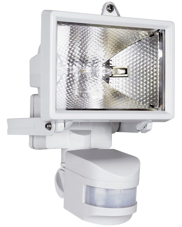 Smartwares ES120W Luz de seguridad, Sensor de movimiento, Halógena, 2250 lm, Blanca: Amazon.es: Iluminación