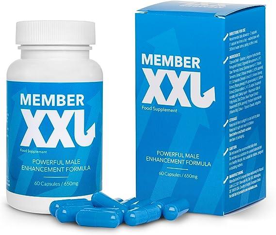 ✓member xxl premium, potenza farmaci & ingrandimento del pene + 9cm,  potenza e l'erezione di aiuto per tutti gli uomini, pacchetto base capsule  60/650 mg: amazon.it: salute e cura della persona  amazon.it