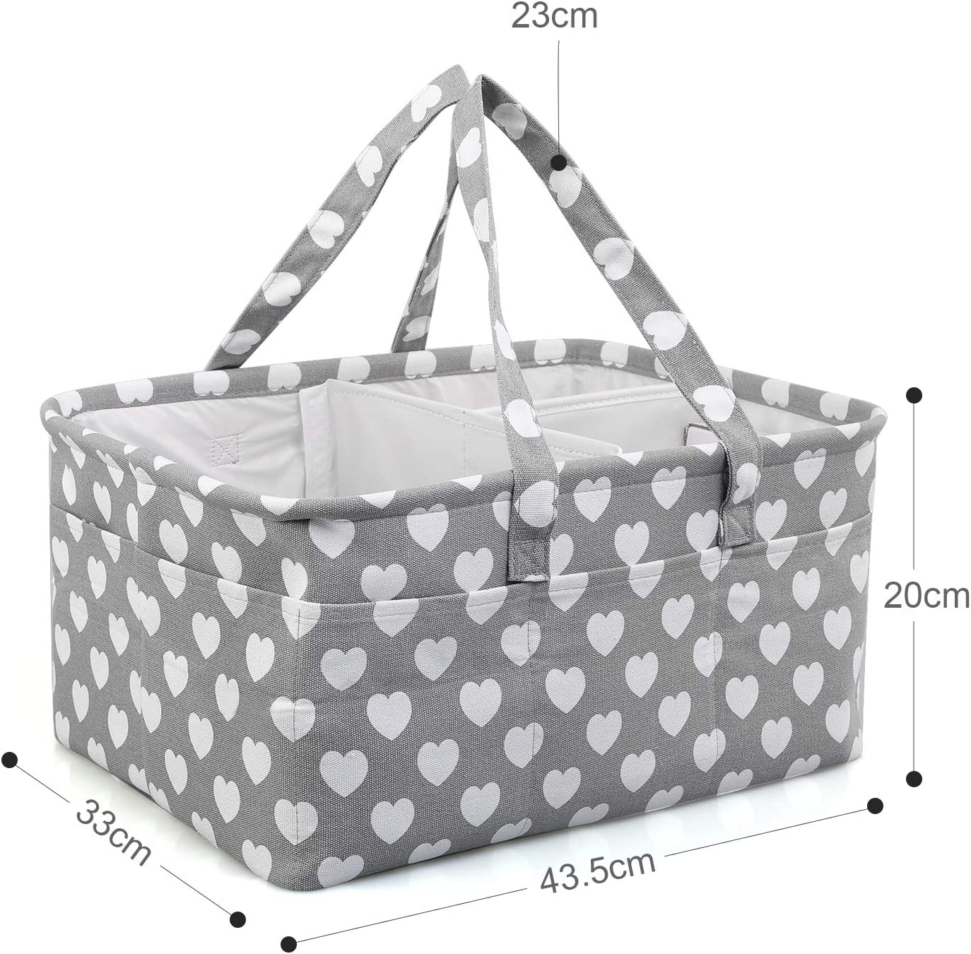 Portable Large Baby Diaper Storage Basket with Changeable Compartments,Foldable Car Travel Tote Bag for Changing Nappy LEADSTAR Baby Diaper Caddy Organizer Nursery Storage,Newborn Shower Gift Wipes