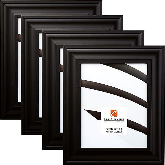 10x13 Inch Modern Satin Black Picture Frame 1.75 221067041013 Balla Craig Frames