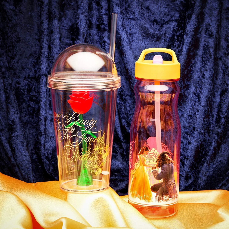 Zak Designs BUBA-S960 Beauty And The Beast Kid's Tumbler, 22 oz, Enchanted Rose by Zak Designs (Image #6)