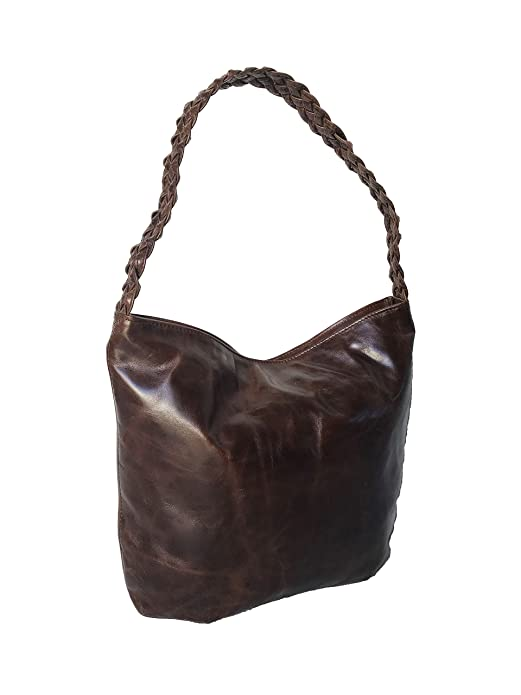 83d51660069f Amazon.com  Fgalaze Distressed Oil Leather Hobo Bag w Braided Handle ...