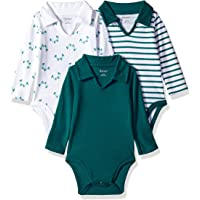 Hanes Ultimate Baby Flexy 3 件装长袖 Polo 连体衣