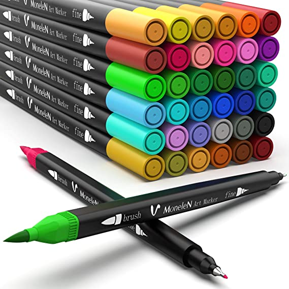 CADANIA 3 6Piecess Double 2 Lines Gel Pen Marker DIY Scrapbooking Diario Decoraci/ón Papeler/ía C #