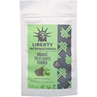 Liberty International Organic Herbal Tulsi Leaf/Holy Basil Pure Leaves Powder For Healing & For Oily, Acne -Pimple Prone And Distressed Skin (227G) Certified NT2861