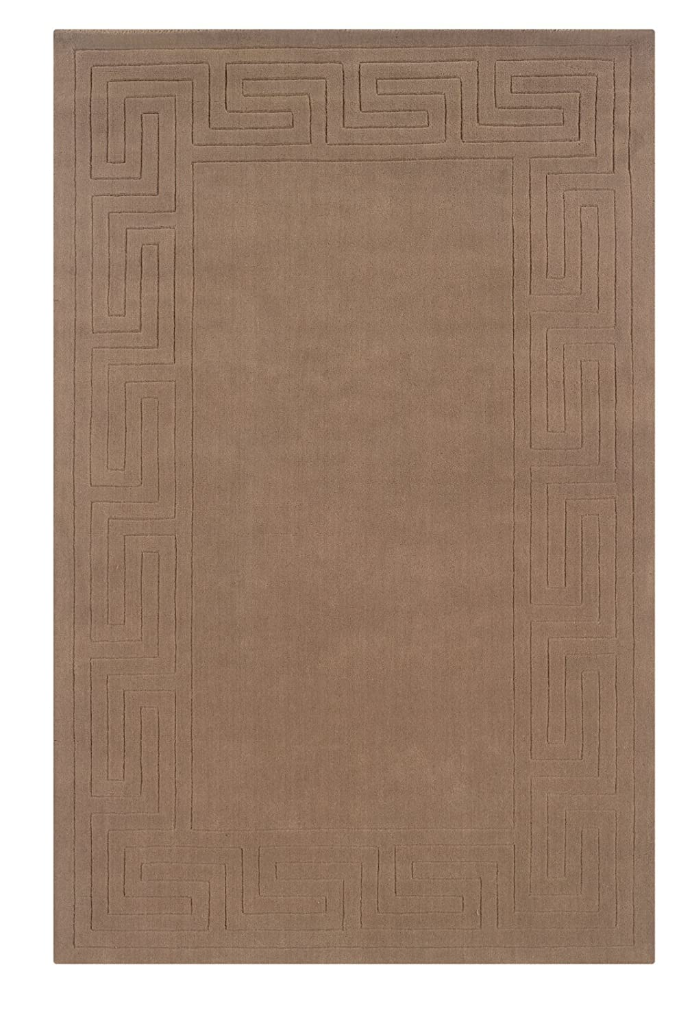 Pasargad Carpets 39218 Modern Collection Lambs Wool Hand-Loomed Solid Area Rug 6 x 9