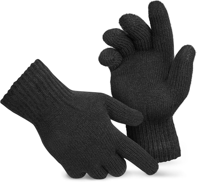noorsk Guantes con función de Pantalla táctil Screen Gloves Guantes de Punto: Amazon.es: Deportes y aire libre