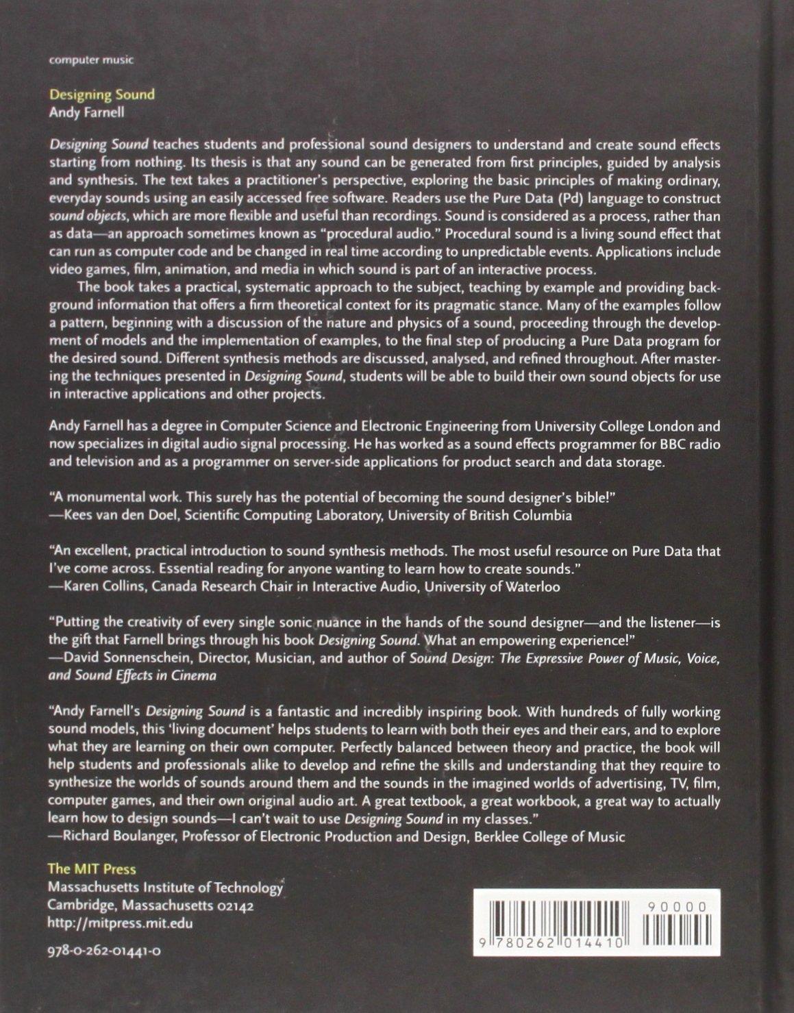 Designing Sound (The MIT Press): Amazon co uk: A Farnell